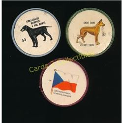 Lot Of 3 Picture Wheels 2 Dogs Retriever &