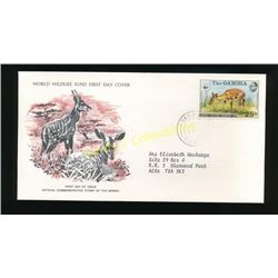1976 Gambia Wildlife First Day Cover Antelope