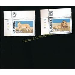 1986 Namibia Lot Of 2 Lion Stamps