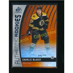 17-18 SP Game Used Orange RC Charlie McAvoy
