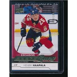 17-18 Upper Deck Exclusives #496 Henrik Haapala YG