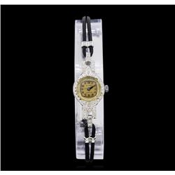 Waltham Platinum Diamond Vintage Ladies Watch