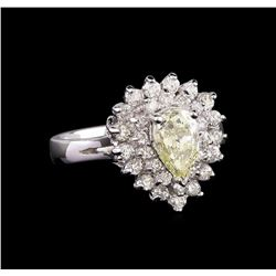 14KT White Gold 1.04 ctw Diamond Ring