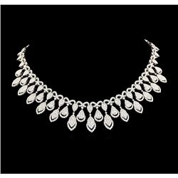 31.04 ctw Diamond Necklace - 18KT White Gold