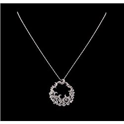 14KT White Gold 3.14 ctw Diamond Pendant With Chain