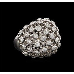 14KT White Gold 0.72 ctw Diamond Ring