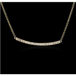 14KT Yellow Gold 0.84 ctw Diamond Necklace