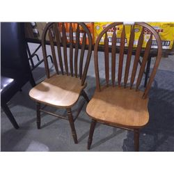Lot of 2 Wood Chairs sold each x 2