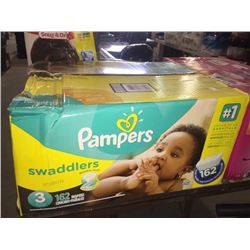 Pampers 162 count size 3 swaddlers diapers