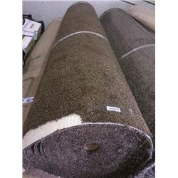 New Full Roll of Residential Carpet (sold by the square foot).Earth Tone Brown.