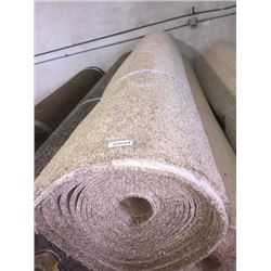 New Full Roll of Residential Carpet (sold by the square foot).Light Brown