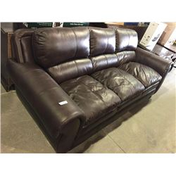 Leather 3 person couch used condition
