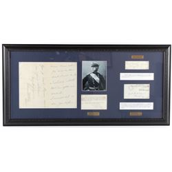 US Civil War General's Signatures Framed RARE