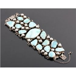 Sterling Silver and Larimar Bracelet