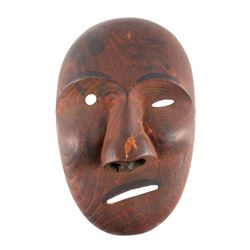 Kings Island Eskimo Carved Wooden Mask c.1890-1900