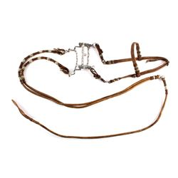 Antique Mexican Braided Cactus Headstall w/ Reins