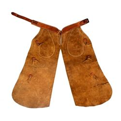 H.H. Heiser Suede Leather Batwing Chaps