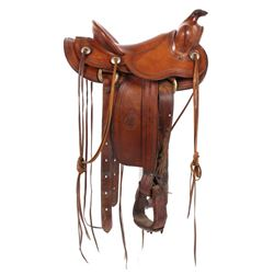 H.H. Heiser Fine Tooled Western Style Saddle