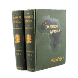 In Darkest Africa by H.M. Stanley 1st Ed. w/ Maps