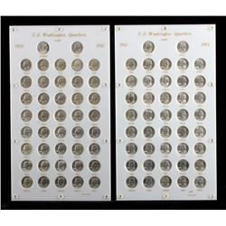 Complete Set Washington Quarters 1932-1964 UNC