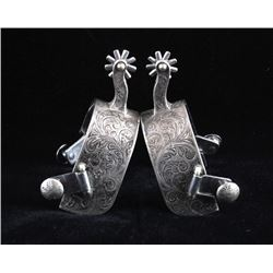 Joe Nab Silver Mounted Spurs