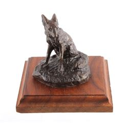 Original Bob Scriver Red Fox Bronze Sculpture