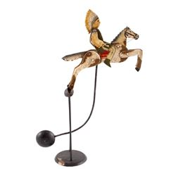 Folk Art Galloping Indian Sculpture