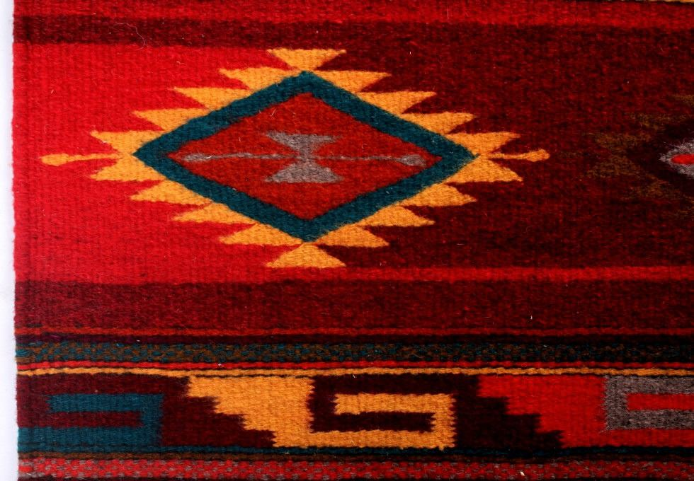 Image 5 Zapotec Native American Indian Hand Woven Rug