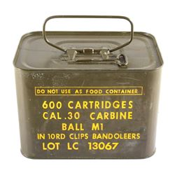 600rd .30 Cal Un-Opened US Military Spam-Can