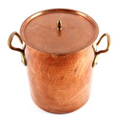 Hand Hammered French Copper/ Brass Stock Pot