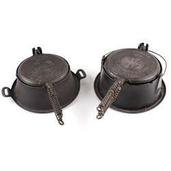 Griswold No 8./No 9. Waffle Makers with Bases