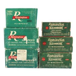 Antique Remington Ammo Boxes in Various Caliber's