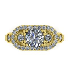 1.75 CTW Solitaire Certified VS/SI Diamond Ring 14K Yellow Gold - REF-450M8H - 38552