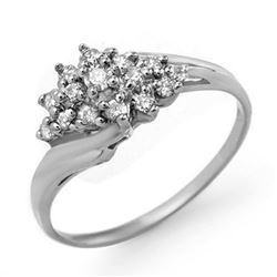 0.25 CTW Certified VS/SI Diamond Ring 14K White Gold - REF-31F5N - 13592