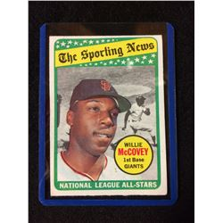 1969 Topps Willie McCovey #416 Baseball Card NL Sporting News All Star