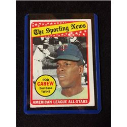 1969 Topps Rod Carew Minnesota Twins 419 Baseball Card Sporting News AL All Star