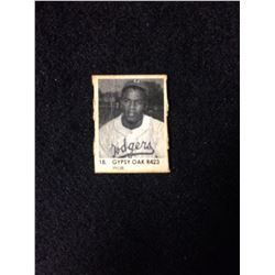 1950 R423 Gypsy Oak Gumball Art Series Card #18 JACKIE ROBINSON