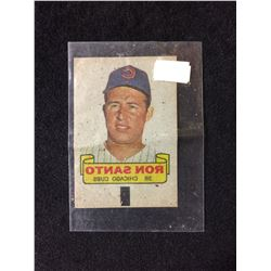 1966 TOPPS RUB-OFF CARD TATTOO TRANSFER STYLE RON SANTO