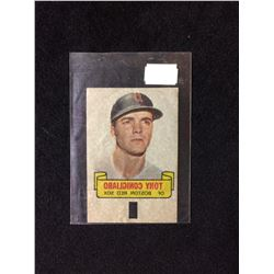 1966 TOPPS RUB-OFF CARD TATTOO TRANSFER STYLE TONY CONIGLIARO