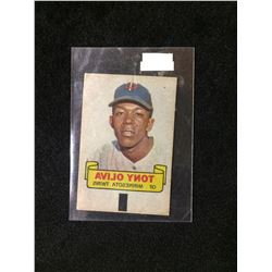 1966 TOPPS RUB-OFF CARD TATTOO TRANSFER STYLE TONY OLIVA