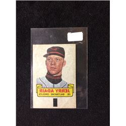 1966 TOPPS RUB-OFF CARD TATTOO TRANSFER STYLE JERRY ADAIR
