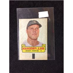 1966 TOPPS RUB-OFF CARD TATTOO TRANSFER STYLE BILL FREEHAN