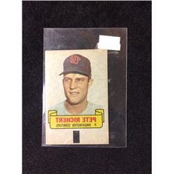 1966 TOPPS RUB-OFF CARD TATTOO TRANSFER STYLE PETE RICHERT