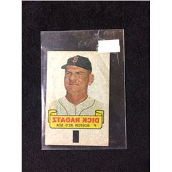 1966 TOPPS RUB-OFF CARD TATTOO TRANSFER STYLE DICK RADATZ