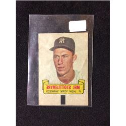 1966 TOPPS RUB-OFF CARD TATTOO TRANSFER STYLE MEL STOTTLEMYRE