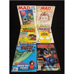 COMIC BOOK LOT (MAD, CRACKED, NUTS, RESIDENT EVIL)