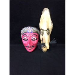 LOT OF 2 WALL MASKS