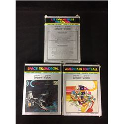INTELLIVISION VIDEO GAME LOT (ALIEN INVADERS, SPACE SQUADRON, AMERICAN FOOTBALL)