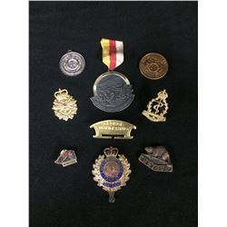 VINTAGE WAR MEDALS AND PINS LOT