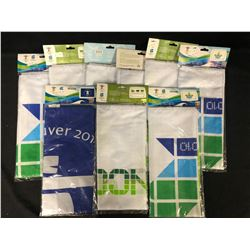 2010 VANCOUVER OLYMPICS FLAGS LOT (BRAND NEW)